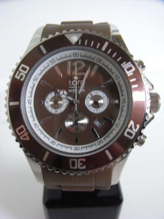 Tomwatch Chrono 48 Wa 0100 Braun Armbanduhr Uvp 119€ Bild