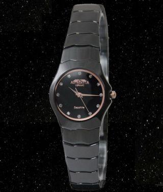 Flache Astroavia Cb 1 Luxus Keramik Uhr Saphirglas Damenuhr Ceramic Watch Black Bild