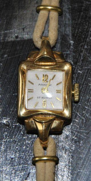 Kult Anker Damen Armbanduhr V.  Ca.  1960,  Nicht Funktionstüchtig Bild