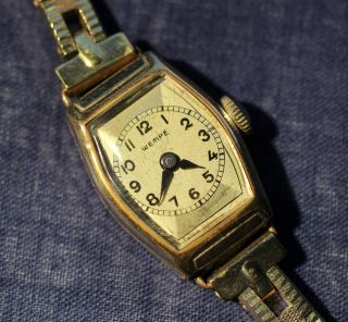 Wempe Damen Mädchen Armbanduhr 60er Jahre Vergoldet Bild