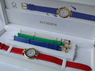 Bucherer Paradiso Dau Originalkarton 4 Farbige Armbänder Bild