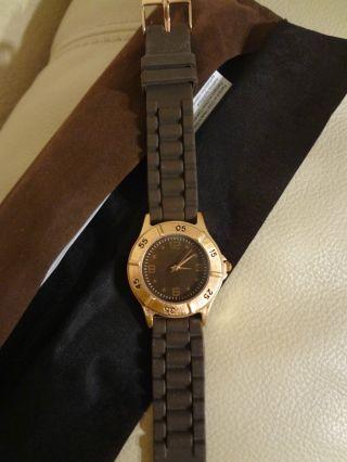 Damenuhr Herrenuhr Armbanduhr Braun Digital Analog Silikon Bild