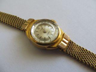 Bezaubernd Ruhla Damen Armbanduhr Deutschland 1950mechanisch Gold Läuft Bild