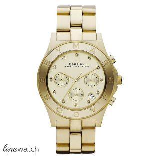 Marc Jacobs Mbm3101 Damen Uhr / Chronograph Gold Uvp 259,  00 Bild