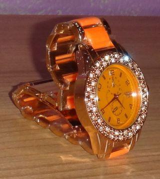 Amber Time Damen Strass Uhr - Bild
