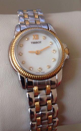 Damen Mädchen Tissot Uhr Edelstahl Einfach Abzulesen Siehe Bild Bild