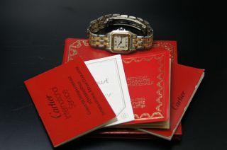 Cartier Panthere Stahl/gold Damenuhr Klassiker Luxusuhr Box & Papiere Bild