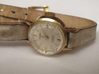 Traumschöne Antike Anker Damenuhr 585 Gold Handaufzugswerk Läuft Gut Weihnachten Bild