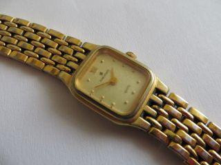 Alte Wunderschöne Junghans Damen Armbanduhr Quarz Gold Läuft Bild
