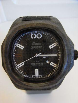 Itime Orologi Phantom Carbon Monocoque Gehäuse Ph4900 - C 01t Uvp 210€ Bild