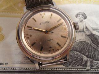 Wostok Vostok Boctok Hau Herrenuhr 17 Rubine Uhrmachernachlass Cccp Udssr Bild