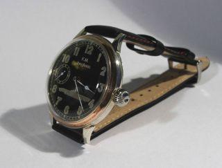 Junghans 48mm Silber Armbanduhr Umbau - Top Bild