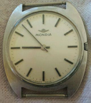 Mondia Herren Uhr Armbanduhr Swiss Made Handaufzug Bild