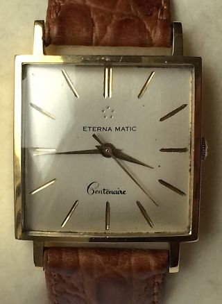 Eterna - Matic Centenaire 18kt 750 Gold Automatic Vintage Herrenuhr Bild