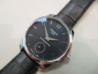 Tissot T - Complication Handaufzug Chronometer Stahl Leder 43mm Eta 6498 - 2 Bild