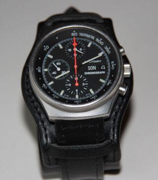 Orfina Porsche Design Fliegerchronograph Lemania 5100,  Day Date Steel Bild