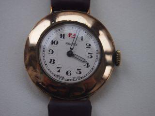 Rolex - Seltene Herrenarmbanduhr,  Handaufzug,  Schweiz Um 1930 - 375er Gold Bild