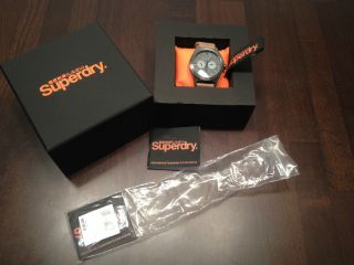 Superdry Herren - Armbanduhr Xl Analog Quarz Leder Syg106e  Np 159€ Bild