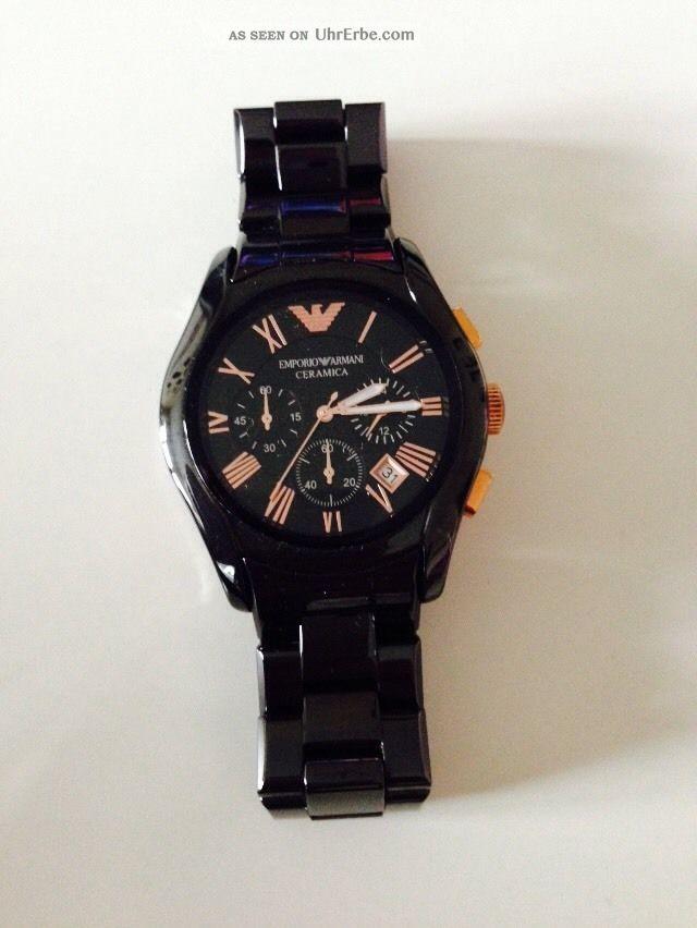 Emporio Armani Ceramica Herrenuhr Neuwertig Ungetragen Armbanduhren Bild