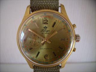 Top Lings 21 Prix Chronograph Racetimer Design Kal.  Oc 120 18k 750er Gold??? Top Bild