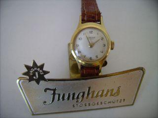 Top Junghans Max Bill Bauhaus Wagenfeld Design Kal.  674 585er Gold Top Bild