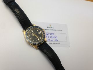 Rolex Gmt Ref,  16758 Gold Leder Band Service / Dornschliesse Bild