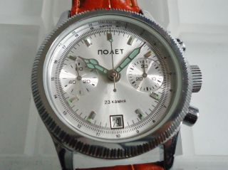 Poljot Chronograph Cal.  3133 Ungetragen/new Old Stock Bild