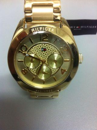 Tommy Hilfiger Damen Uhr Gold Chronograph Bild