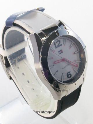 Tommy Hilfiger Damenuhr Damen Uhr Silikon Band Black Weiß Wechselbar 1781191 Bild