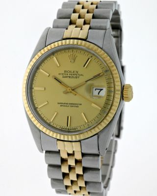 Vintage Rolex Oyster Perpetual Datejust 1601 Chronometer Stahl/18kt.  Gold - Box Bild