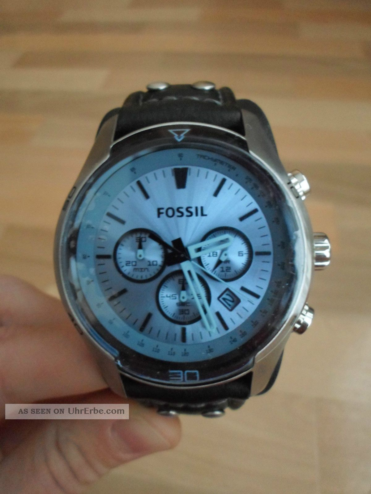 fossil herren armband uhr sport chronograph leder ch2564 ovp. Black Bedroom Furniture Sets. Home Design Ideas