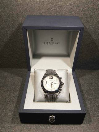 Corum Bubble 45mm Automatik Chronograph Mit 57 Steinen Mit Box,  Papiere Bild