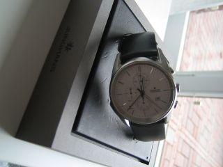 Junghans Chronograph Armbanduhr Herren,  Gr.  41,  Saphirglas,  Wasserfest,  Quartzuhr Bild