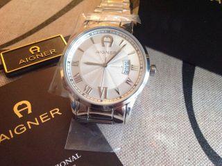 Aigner Uhr Armbanduhr Stahl Silber In Originalverpackung Bild