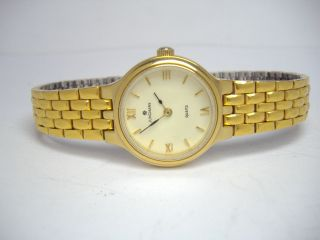 Junghans Goldene Damenuhr Mit Milanaise Armband Wr 30 Quartz Bild
