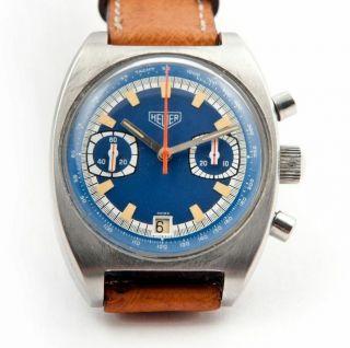 Heuer Seventies Valjoux 7734 Vintage Chrono Chronograph Bild