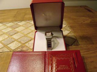 Cartier Damen Armbandnuhr Montres Santos De Cartier Bild