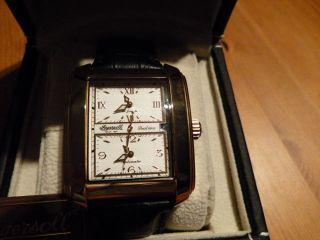 Ingersoll Alabama,  Dual Time,  Herrenuhr Limited Edition,  Lederarmband,  Automatik Bild