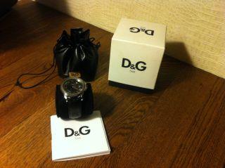 D&g Armbanduhr Herren Uhr Schwarz Silber Bild