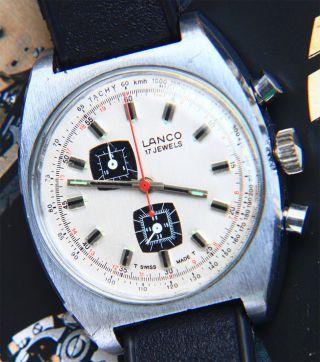 Lanco Sportlicher Vintage Racing Chronograph,  1970er Kult Design Bild