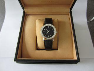 Bulgari Uhr Bb33 Edelstahl,  Datumsanzeige,  Echtes Lederarmband,  Unisex Bild