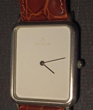 Analoge Quartz - Herren - Armbanduhr Von Milus,  Swiss Made,  Modell Nr.  530 090 Bild