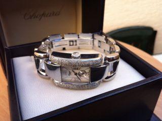Chopard La Strada Stahl Ref.  8357 Diamonds,  Perlmutt Ziffernblatt Mit Box Bild