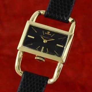 Jaeger Le Coultre Etrier Lady 18k Gold DesignstÜck Handaufzug Damenuhr Bild