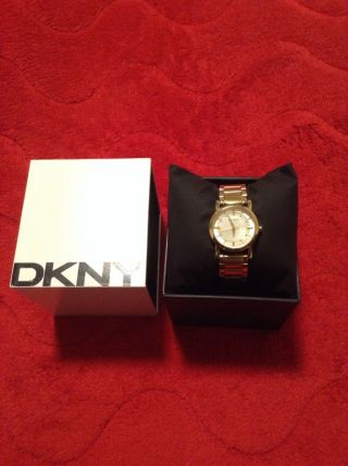 Dkny Damenuhr Gold - Quartz Mother Of Pearl Ny4520 Bild
