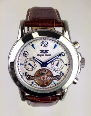 Armbanduhr Marke Royal Swiss - Viele Funktionen - Automatikwerk - T23012 - 191 Bild