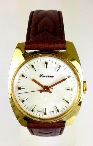 Armbanduhr Marke Lucerne - Schweizer Handaufzug Werk - Swiss Made Bild