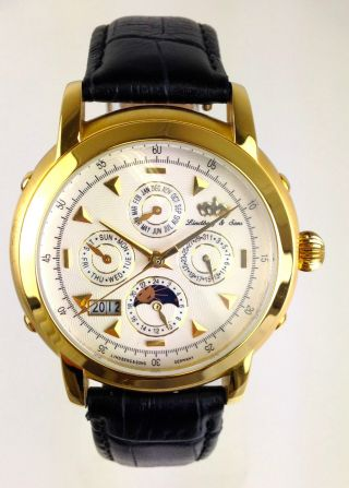 Armbanduhr Lindberg & Sons - Modell T21483g - Automatikwerk - Viele Funktionen Bild