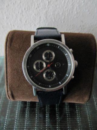 Mercedes Benz Slk Mb Uhr Chronograph Edelstahl Blaues Armband Top Bild