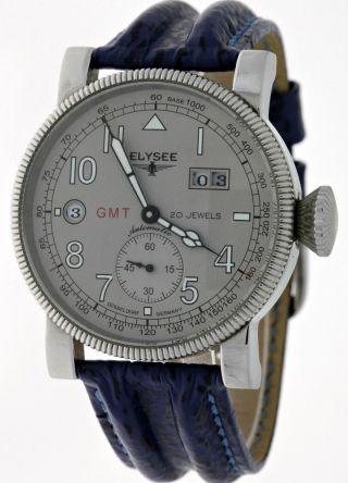 WunderschÖne Elysee Gmt Small Second Automatik Date 49031 Edelstahl Neuwertig Bild